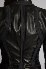 DSQUARED2 Lamb Leather Marsha Inside Out Bomber Leather outerwear Woman