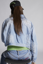 DSQUARED2 Maxi Denim Jacket Denim outerwear Woman