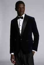 DSQUARED2 Velvet One Button Peak Collared London Jacket With Satin Lapel JACKET/BLAZER Man