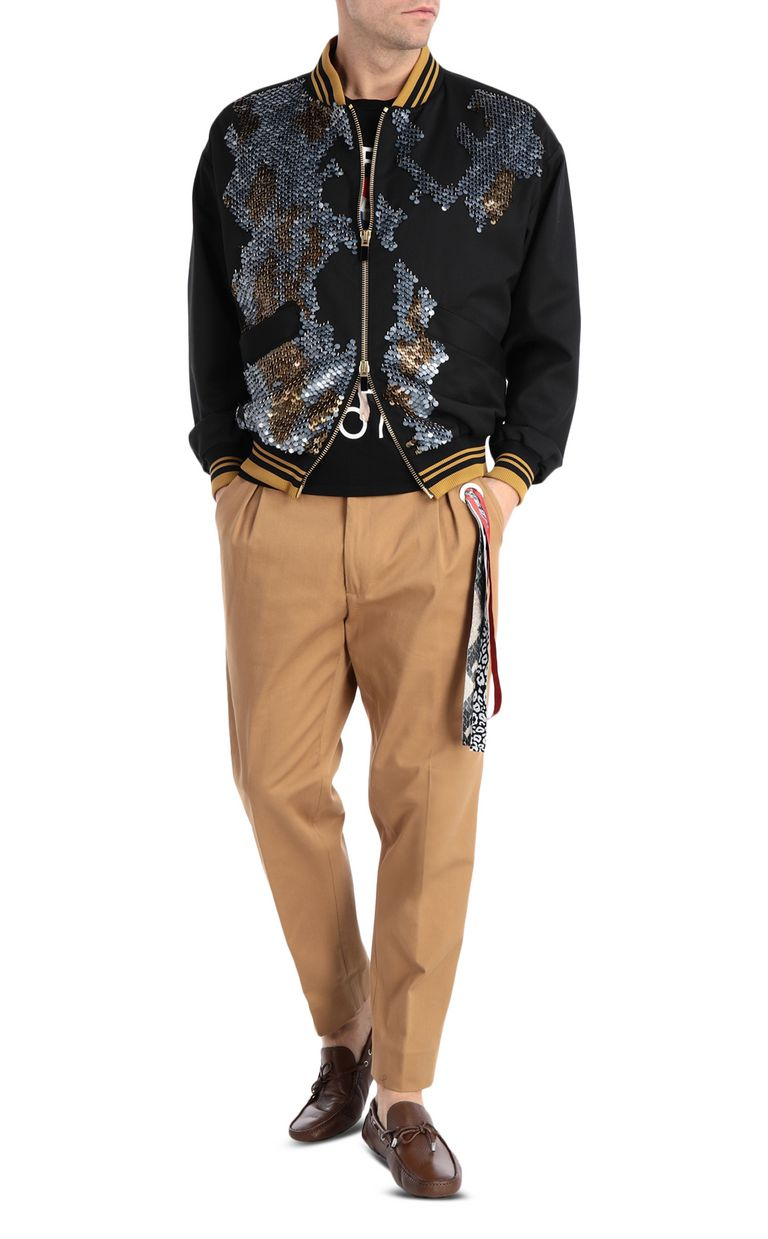 JUST CAVALLI Patterned bomber jacket Jacket Man d