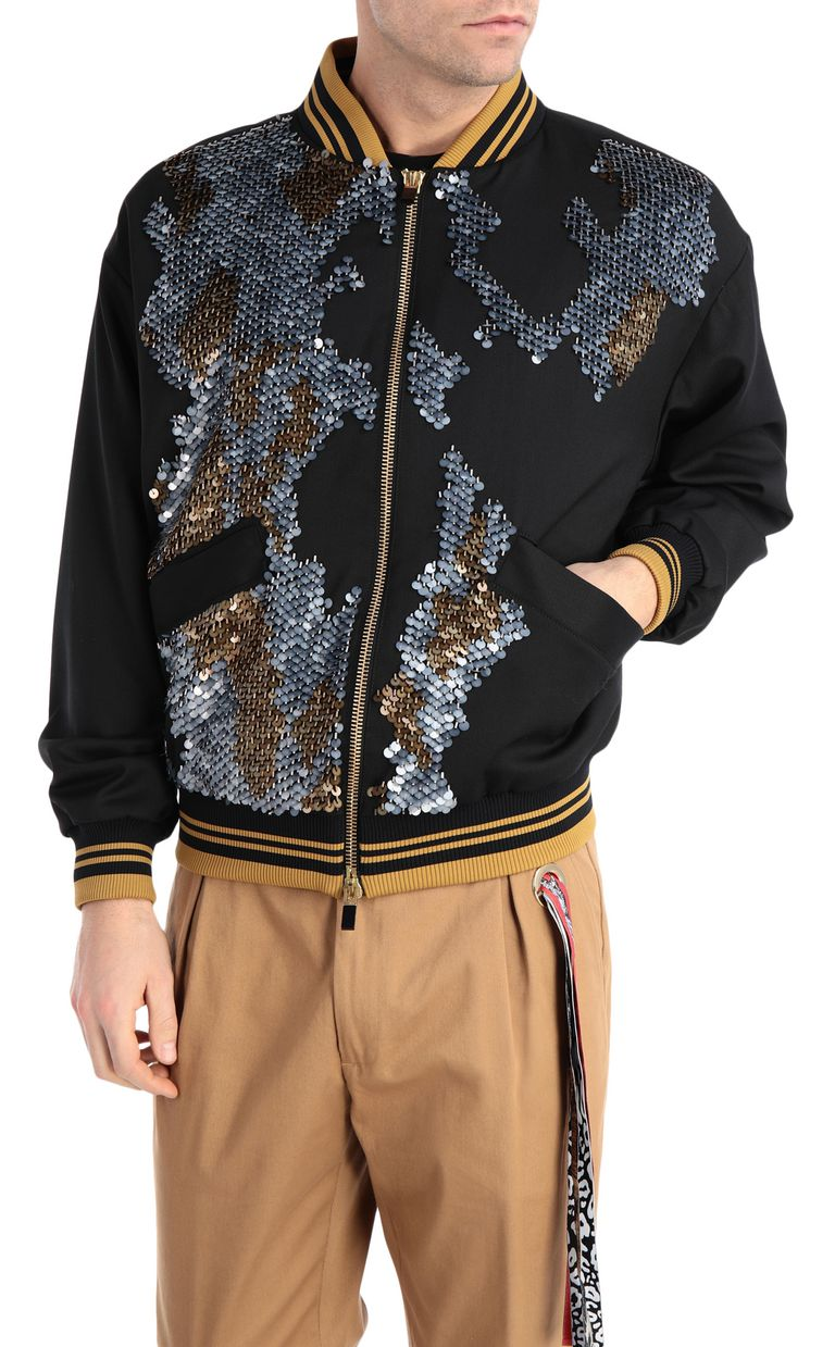 JUST CAVALLI Patterned bomber jacket Jacket Man f