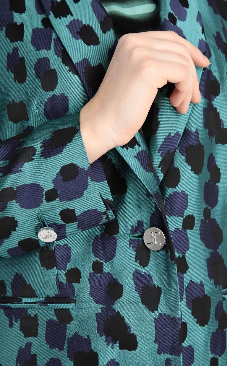 JUST CAVALLI Longline jacquard-leopard jacket Blazer [*** pickupInStoreShipping_info ***] e