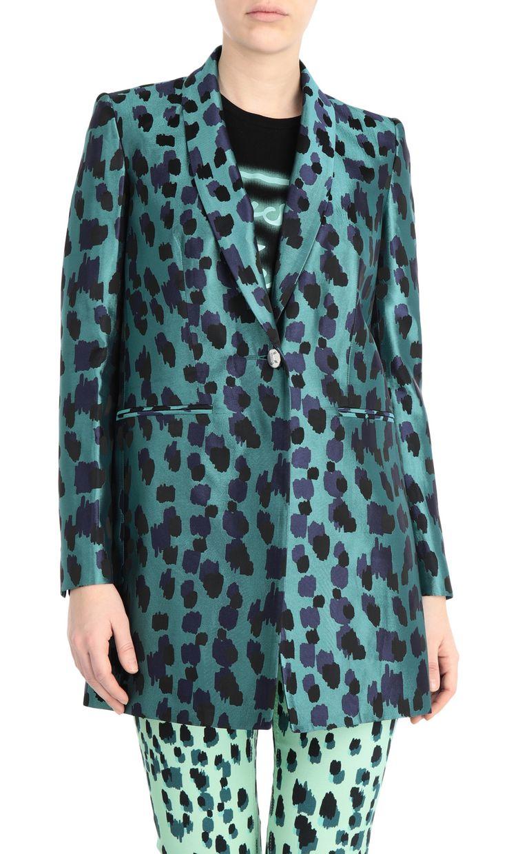 JUST CAVALLI Longline jacquard-leopard jacket Blazer Woman f