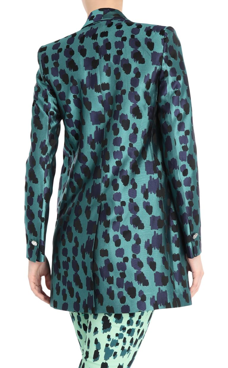 JUST CAVALLI Longline jacquard-leopard jacket Blazer Woman r