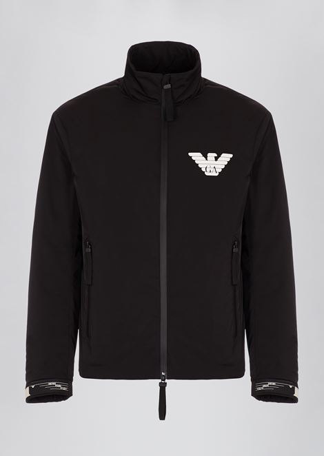 Japanese technical twill blouson with Emporio Armani logo