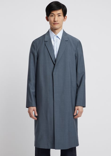 Cool wool coat with lapels
