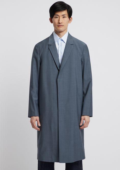 Manteau en laine froide avec revers
