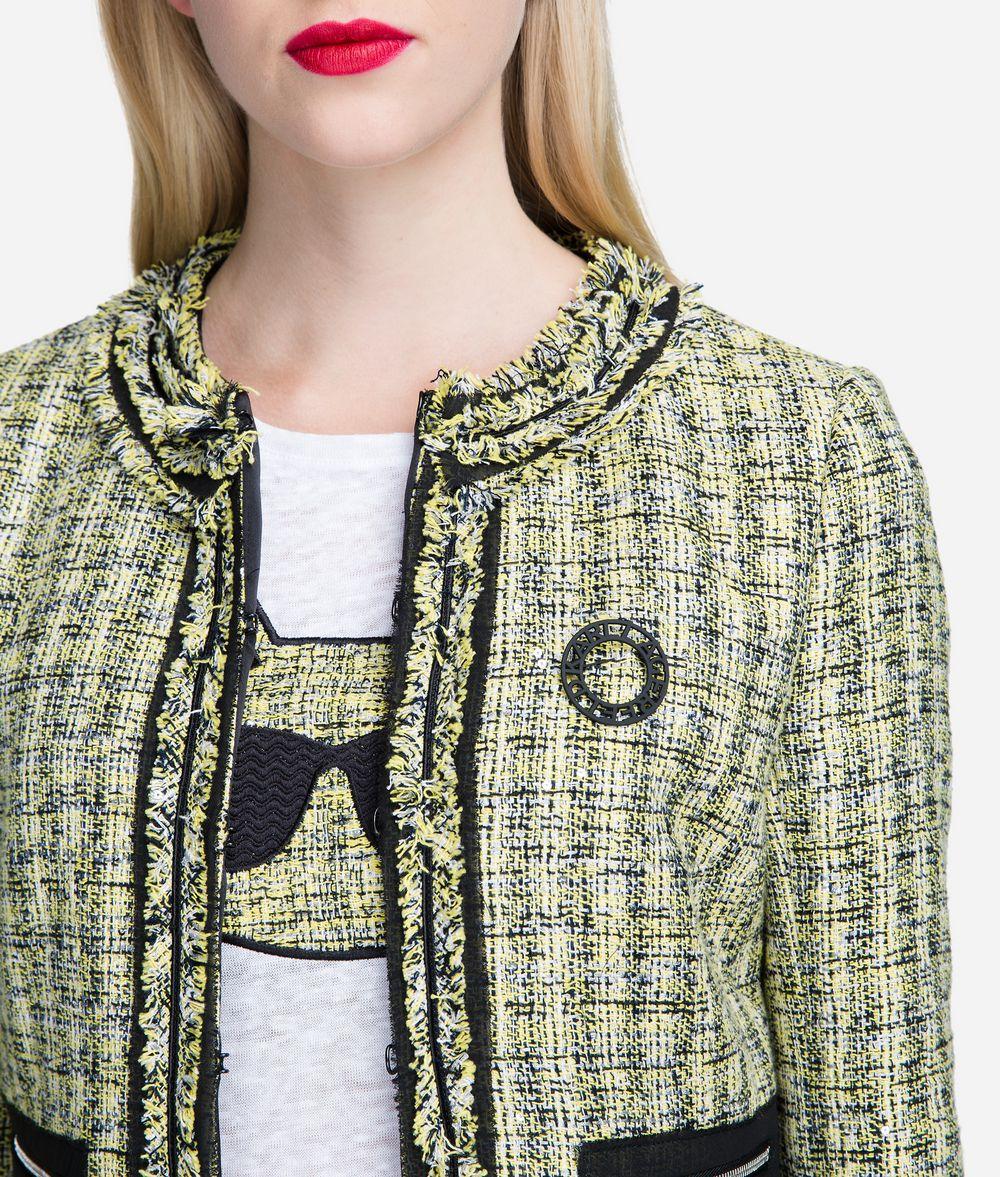 KARL LAGERFELD Bouclé Jacket with Pin Jacket Woman d