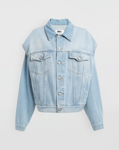 MM6 MAISON MARGIELA Open-sleeve denim cape jacket Jacket [*** pickupInStoreShipping_info ***] f