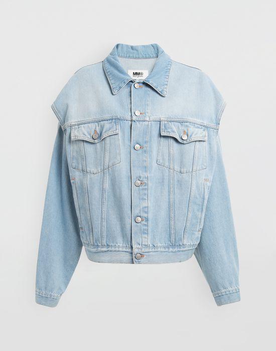 MM6 MAISON MARGIELA Open-sleeve denim cape jacket Jacket [*** pickupInStoreShipping_info ***] f