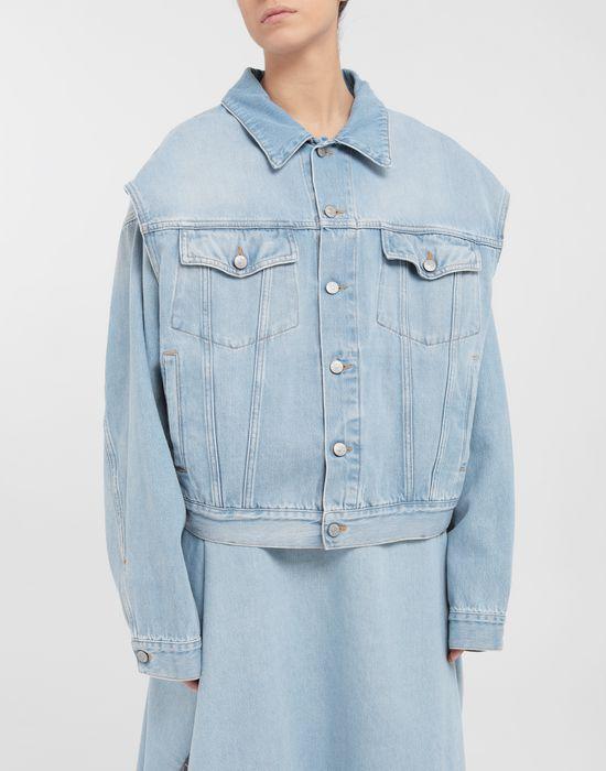 MM6 MAISON MARGIELA Open-sleeve denim cape jacket Jacket [*** pickupInStoreShipping_info ***] r