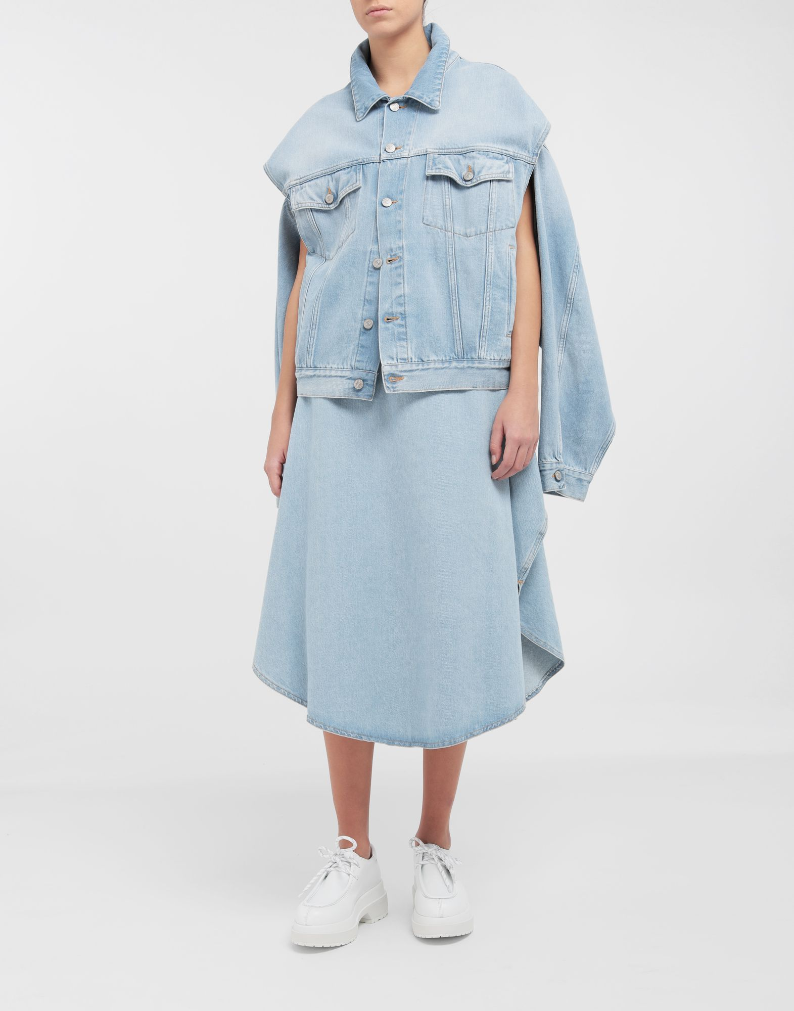 MM6 MAISON MARGIELA Open-sleeve denim cape jacket Jacket Woman d