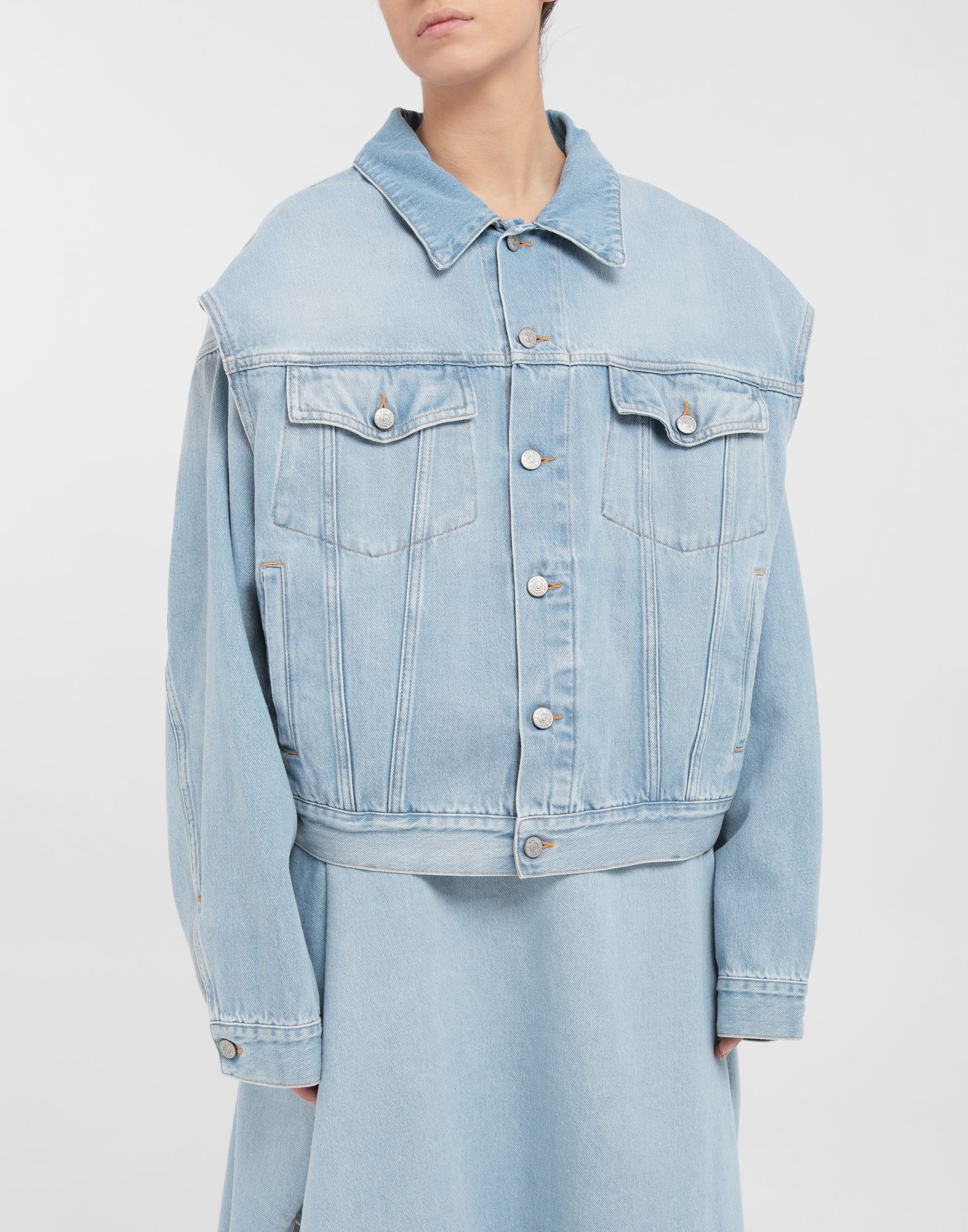 MM6 MAISON MARGIELA Open-sleeve denim cape jacket Jacket Woman r