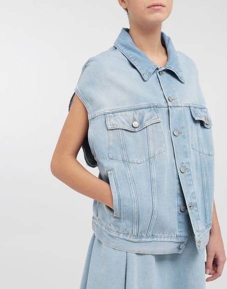 MM6 MAISON MARGIELA Open-sleeve denim cape jacket Jacket Woman a