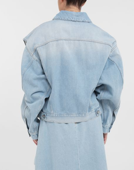 MM6 MAISON MARGIELA Open-sleeve denim cape jacket Jacket Woman e