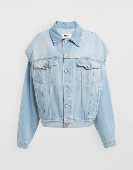 MM6 MAISON MARGIELA Open-sleeve denim cape jacket Jacket Woman f