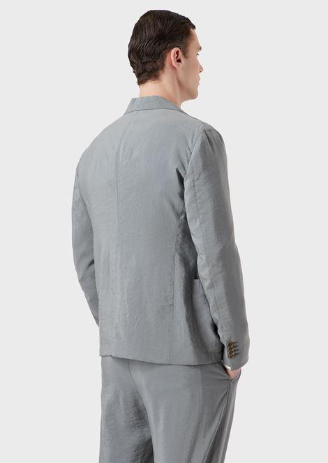 Silk blend regular-fit Upton jacket