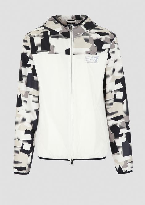 Train Graphic tech fabric blouson