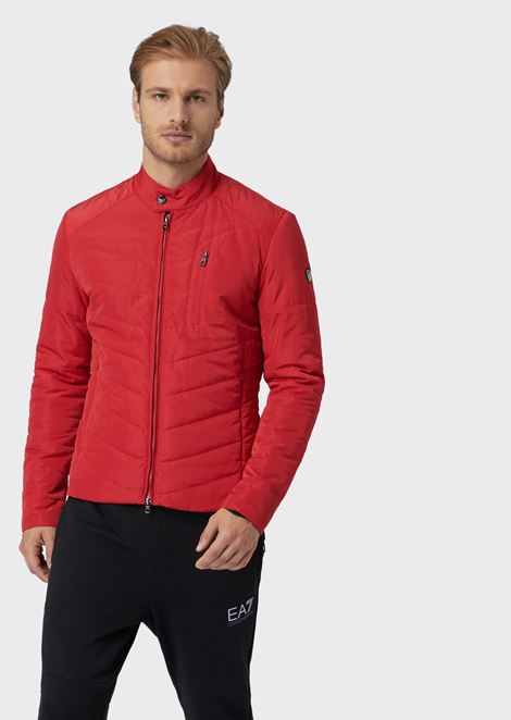 Train Core quilted and padded jacket
