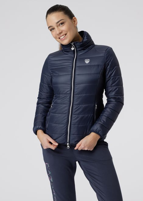 Quilted padded jacket in glossy nylon