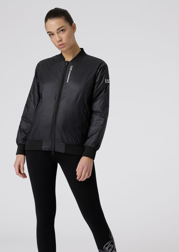 c44a1663509 Padded bomber jacket with maxi eagle on the back