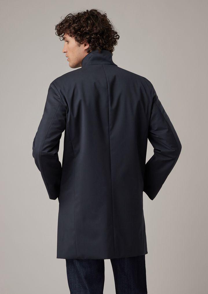 b42ddfc3f7 Reversible water-repellent wool gabardine trench coat