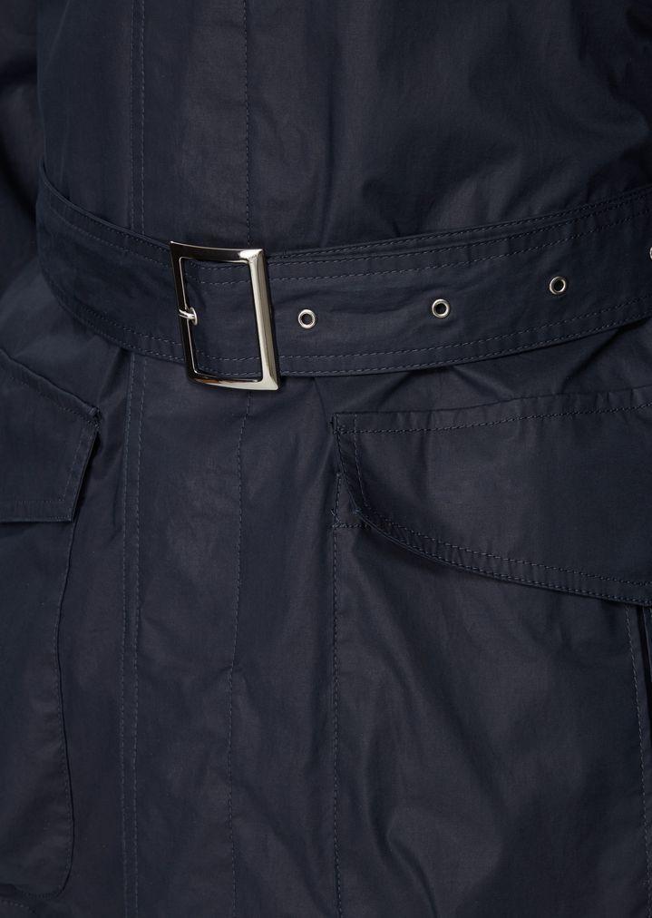 03c87ceefe Garment-dyed safari jacket in water-repellent coated poplin