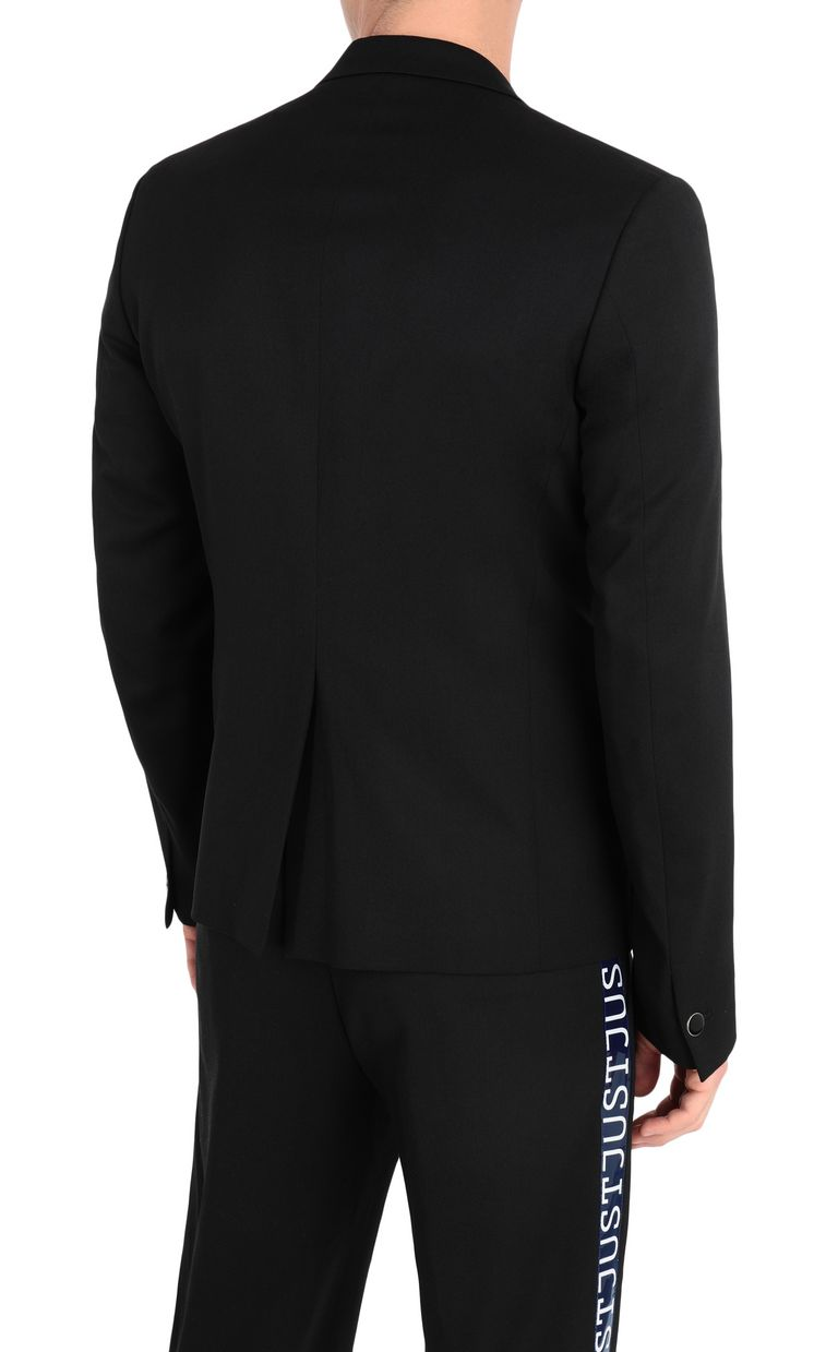 JUST CAVALLI Jacket with logoed band detail Blazer Man r