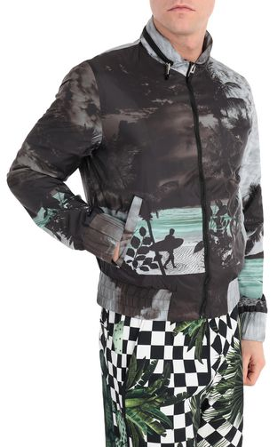 JUST CAVALLI Raincoat Man Windcheater with surfer print f
