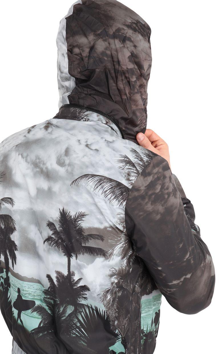 JUST CAVALLI Windcheater with surfer print Raincoat Man e