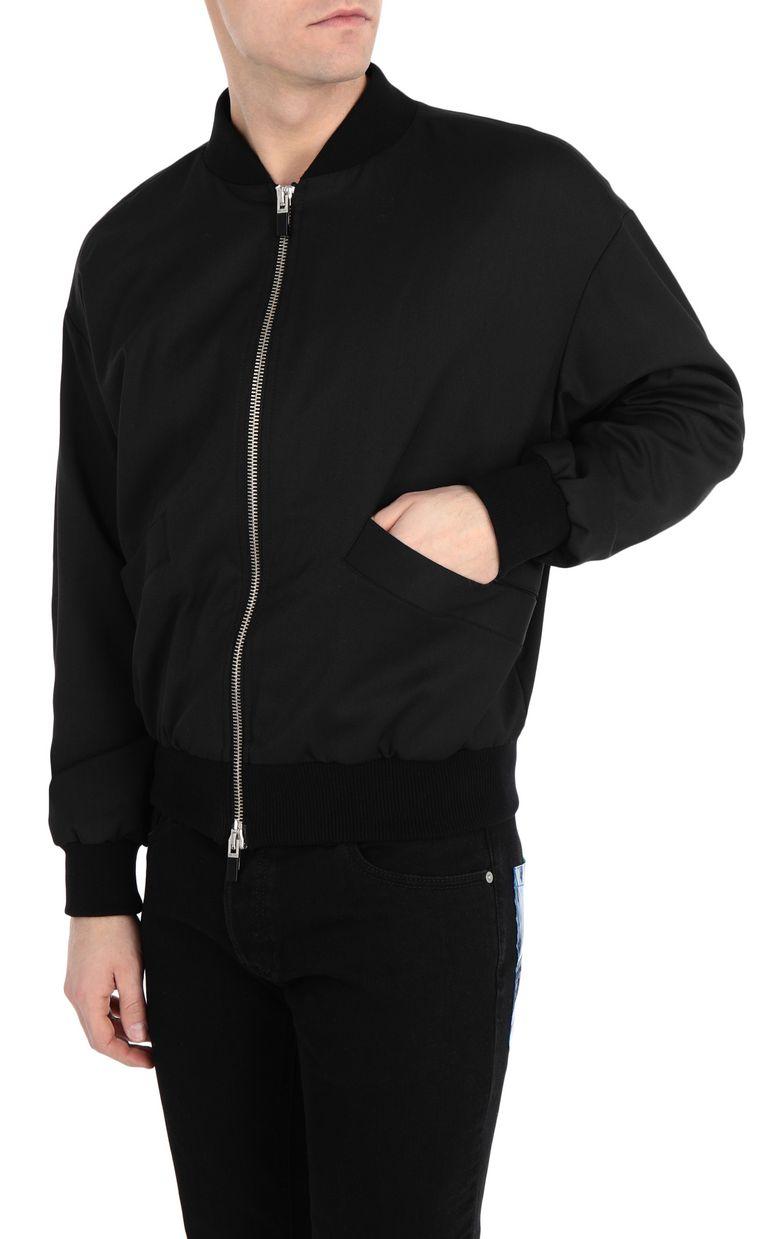 JUST CAVALLI Bomber jacket with glitch print Jacket Man f