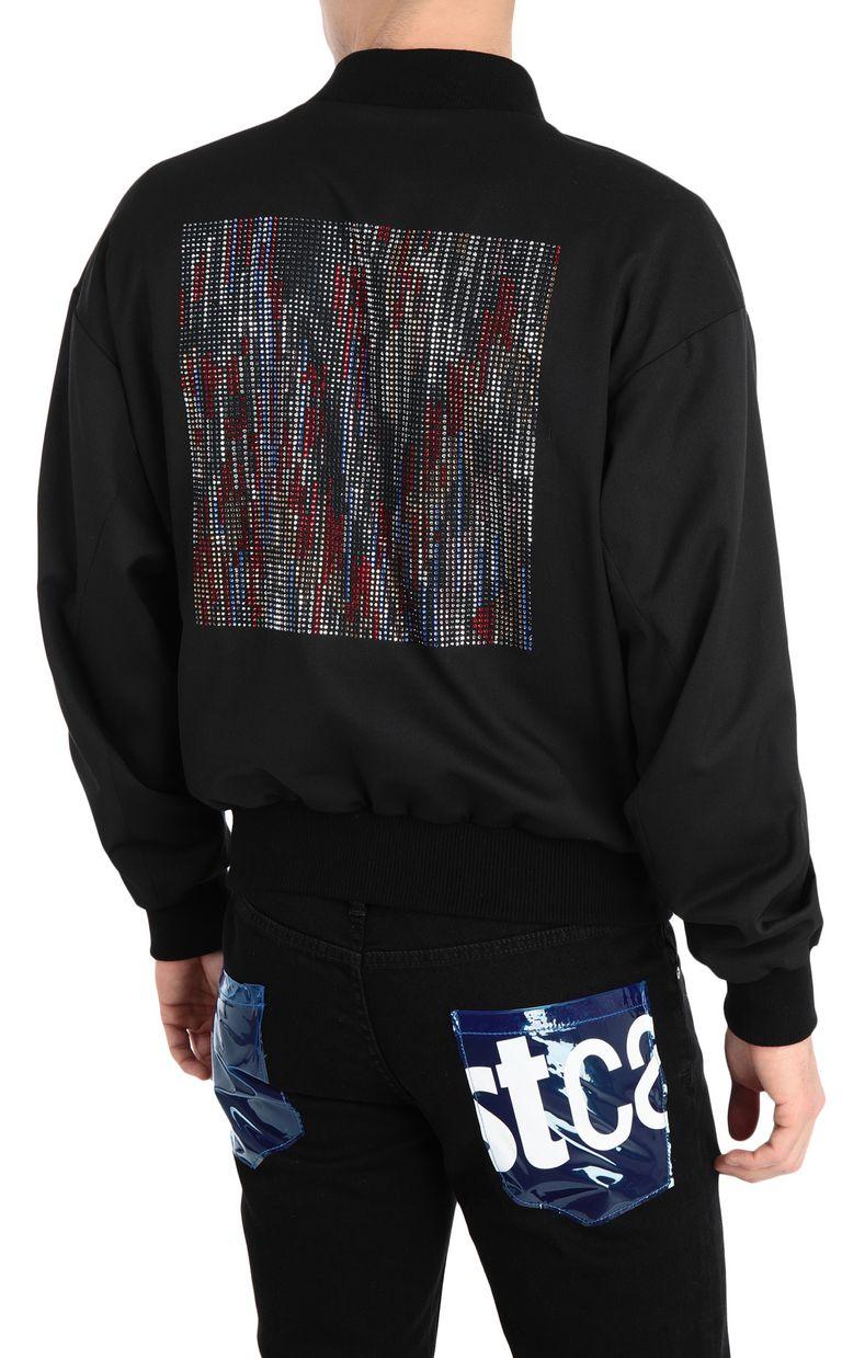 JUST CAVALLI Bomber jacket with glitch print Jacket Man r