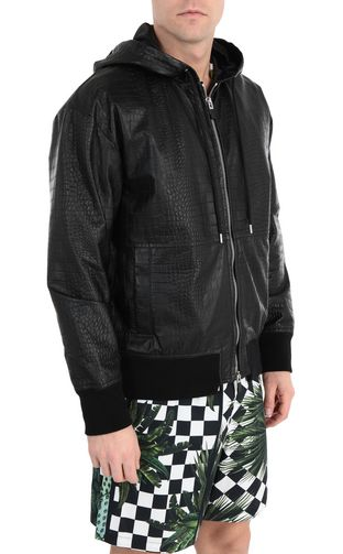 JUST CAVALLI Leather Jacket Man Crocodile-skin-effect jacket f