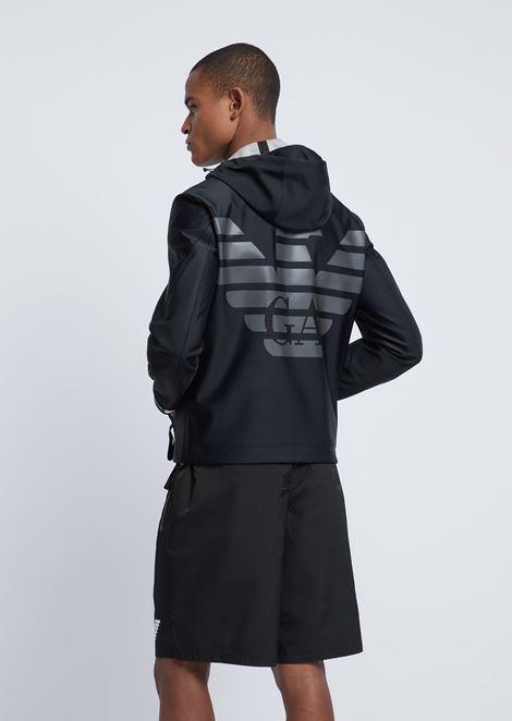 R-EA-MIX Blouson aus Techno-Stoff mit Reflektor-Logo am Rücken