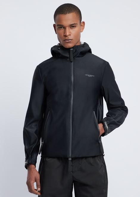 R-EA-MIX blouson in tech fabric with reflective logo on the back