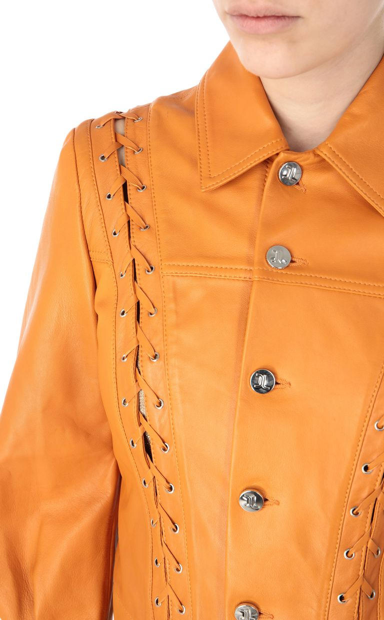 JUST CAVALLI Jacket with ties Leather Jacket Woman e