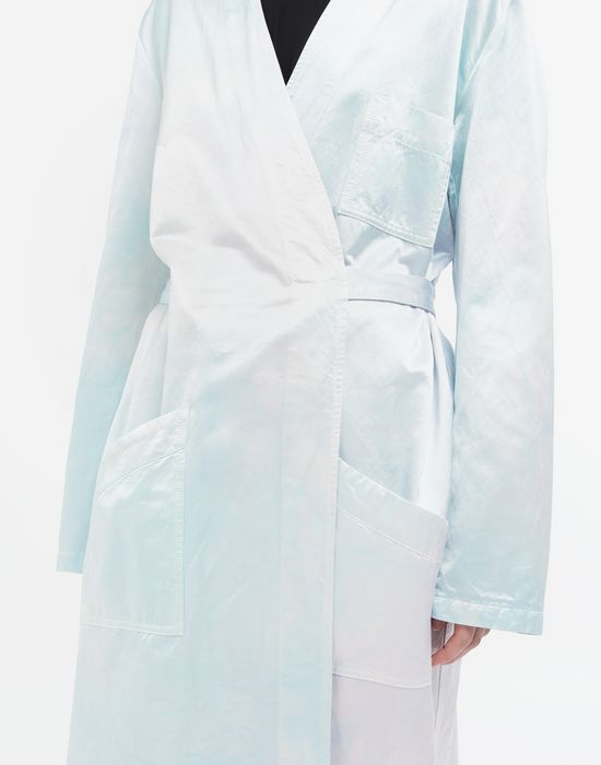 MM6 MAISON MARGIELA Manteau peignoir en satin Manteau long [*** pickupInStoreShipping_info ***] a