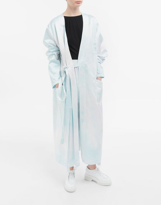 MM6 MAISON MARGIELA Manteau peignoir en satin Manteau long [*** pickupInStoreShipping_info ***] d
