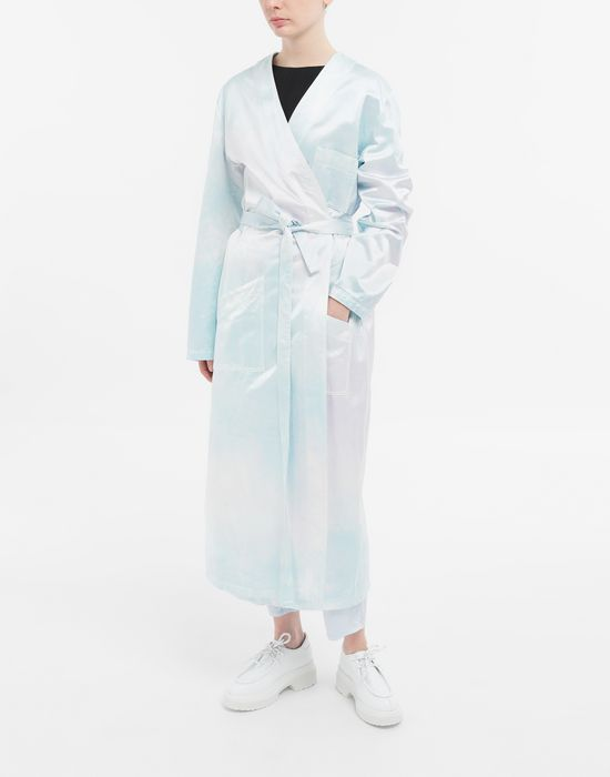 MM6 MAISON MARGIELA Manteau peignoir en satin Manteau long [*** pickupInStoreShipping_info ***] r