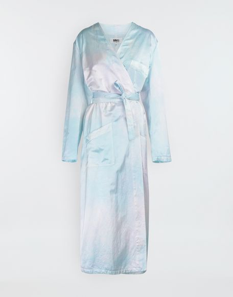MM6 MAISON MARGIELA Wrap satin coat Coats and Trenches Woman f