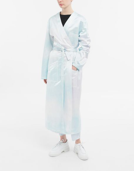 MM6 MAISON MARGIELA Wrap satin coat Coats and Trenches Woman r