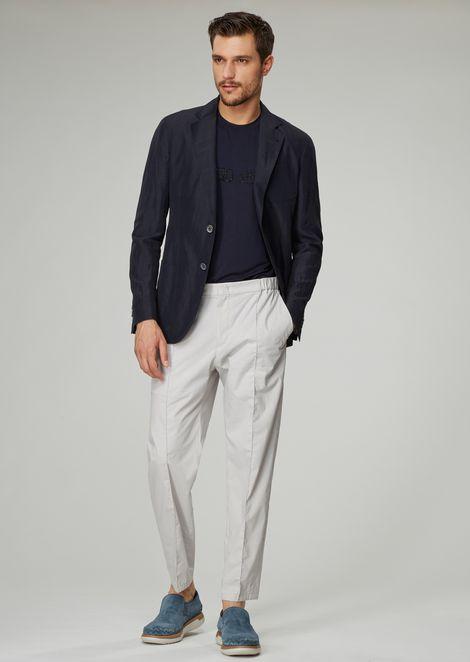 Regular-fit Upton range jacket in a cold-dyed linen blend