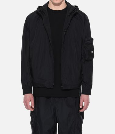 Y-3 Hooded Track Top Man Y-3 Shell Track Jacket r
