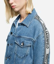 KARL LAGERFELD Logo Tape Denim Jacket 9_f