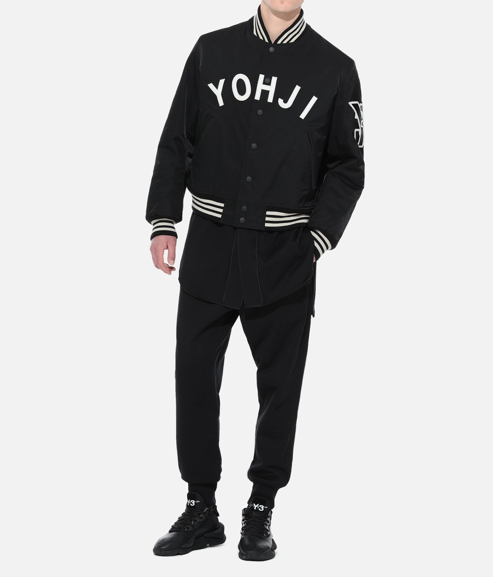 Y-3 Y-3 Yohji Letters Bomber Jacket Jacket Man a