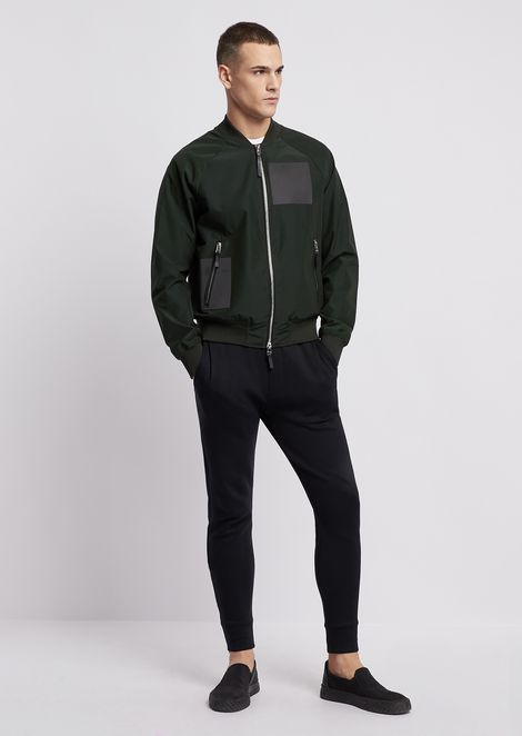 Poly cotton bomber with reflective details