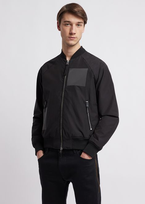 Poly cotton bomber jacket with reflective details
