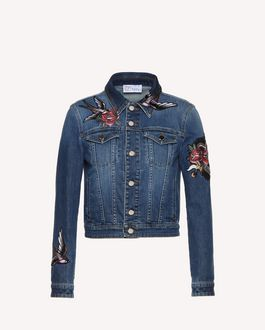 REDValentino Tattoo embroidered denim jacket