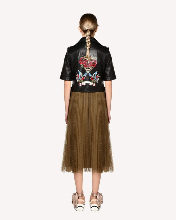 REDValentino Tattoo printed leather biker