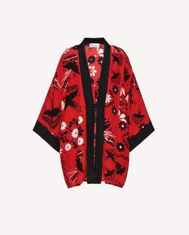REDValentino Decorated Terrace printed silk kimono